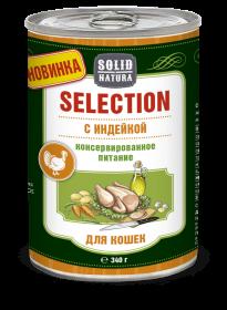 SOLID NATURA Selection консервированный корм для кошек, с индейкой, 340г