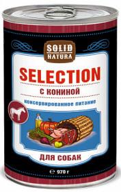 SOLID NATURA Selection консервированный корм для собак, с кониной, 970г