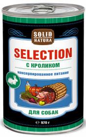 SOLID NATURA Selection консервированный корм для собак, с кроликом, 970г