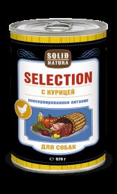 SOLID NATURA Selection консервированный корм для собак, с курицей, 970г