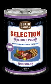 SOLID NATURA Selection консервированный корм для собак, ягненок с рисом, 970г
