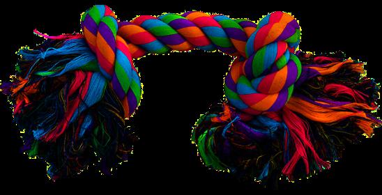 """TRIOL (ТРИОЛ) 0015XJ Игрушка для собак """"Веревка, 2 узла"""", 500мм"""