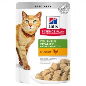 Hill's Science Plan пауч для кошек старше 7 лет, с курицей, 85г