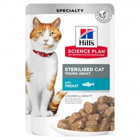 Hill's Science Plan пауч для стерилизованных кошек, с форелью в соусе, 85г