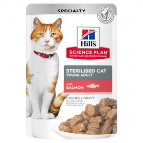 Hill's Science Plan пауч для стерилизованных кошек, с лососем в соусе, 85г