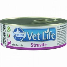 Farmina Vet Life Struvite влажный корм для кошек для лечения и профилактики рецидивов струивитного уролитиаза.
