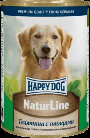 Happy Dog влажный корм для собак с телятиной и овощами, 400г