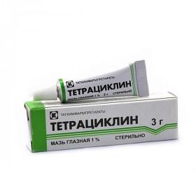 Тетрациклиновая мазь глазная 1%, 3 г