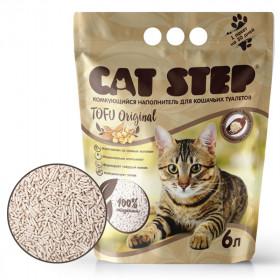 CAT STEP Tofu Original наполнитель растительный комкующийся, 6л