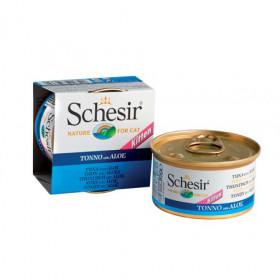 Schesir консервированный корм для котят с тунцом и алоэ  85г