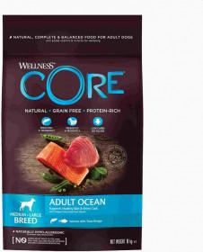 Wellness CORE сухой корм из лосося с тунцом для взрослых собак средних и крупных пород