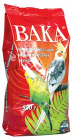 Вака корм для мелких и средних попугаев 500 г