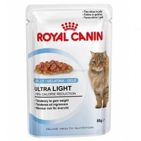 Влажный корм для кошек Royal Canin Ultra Light Jelly (ультра лайт джели), 85 г, кусочки в желе