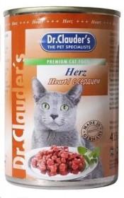 Dr.Clauder's консервированный корм для кошек с сердцем кусочки в соусе 415 г