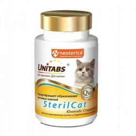 Unitabs SterilCat с Q10 Витамины для кастрированных котов, 120 табл.