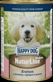 Happy Dog влажный корм для щенков ягненок с печенью, сердцем и рисом 400г