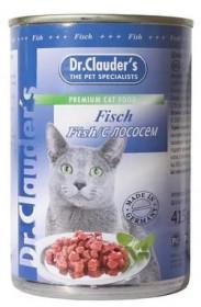 Dr.Clauder's консервированный корм для кошек с лососем кусочки в соусе 415 г