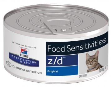 Hill's Prescription Diet Z/D Food Sensitivities влажный корм для кошек при пищевой аллергии, 156г